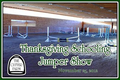 The Cutter Farm Thanksgiving Schooling Jumper Show, November 25, 2012